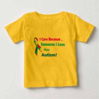 Camiseta De Bebé Diseño de la cinta de la conciencia del autismo