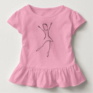 Camiseta De Bebé Diseño de la danza del ballet
