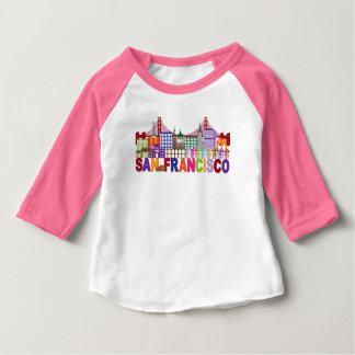 Camiseta De Bebé Diseño de la tipografía de San Francisco,