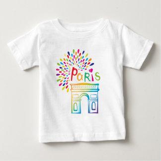Camiseta De Bebé Diseño de neón de París Francia el | Arco del