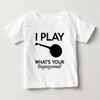 Camiseta De Bebé diseño del banjo