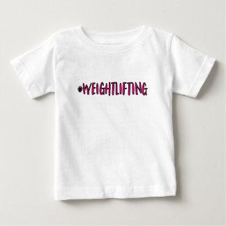 Camiseta De Bebé Diseño del levantamiento de pesas