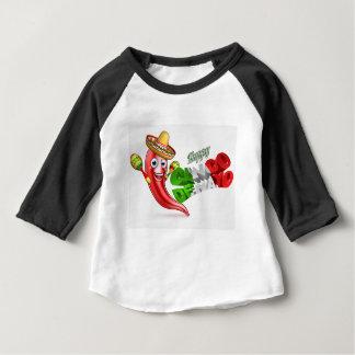 Camiseta De Bebé Diseño del poster de la pimienta de chiles de