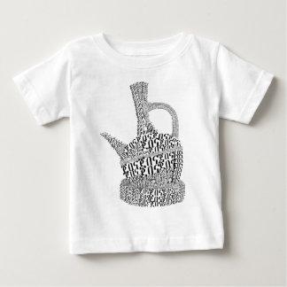 Camiseta De Bebé Diseño del texto del pote del café