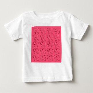 Camiseta De Bebé Diseño dulce rosado pintado peluches