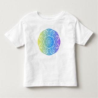 Camiseta De Bebé Diseño floral étnico abstracto colorido de la