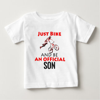 Camiseta De Bebé diseño fresco de la bici del monthain