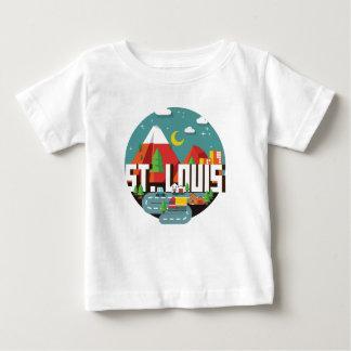 Camiseta De Bebé Diseño geométrico de St. Louis, Missouri