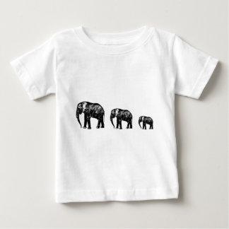 Camiseta De Bebé Diseño lindo de la silueta de la familia del
