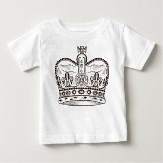 Camiseta De Bebé Diseño real con la corona en estilo del vintage