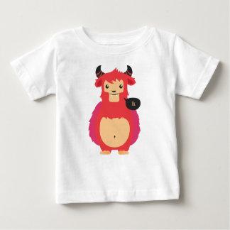 Camiseta De Bebé diseño rojo lindo de la vaca