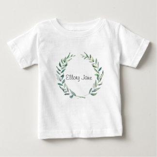 Camiseta De Bebé Diseño rústico de la guirnalda de la magnolia de