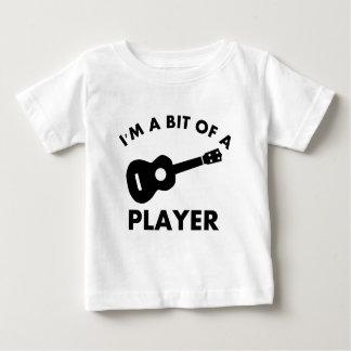 Camiseta De Bebé Diseños del instrumento musical de Ukelele