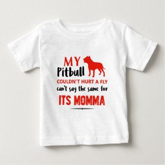 Camiseta De Bebé Diseños divertidos de la mamá del pitbull