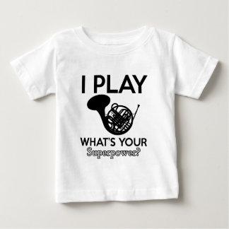 Camiseta De Bebé diseños frescos del frenchorn