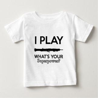 Camiseta De Bebé diseños frescos del oboe del vintage