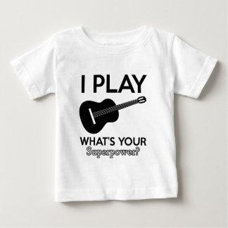 Camiseta De Bebé diseños reales del ukelele