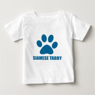 CAMISETA DE BEBÉ DISEÑOS SIAMESES DEL CAT DE TABBY
