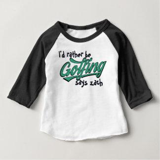 Camiseta De Bebé Divertido Golfing bastante al bebé de encargo del