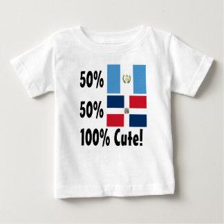 Camiseta De Bebé Dominican del guatemalteco el 50% del 50% el 100%