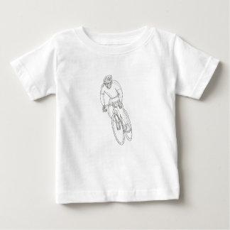 Camiseta De Bebé Doodle que compite con de la bicicleta del camino