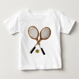 Camiseta De Bebé dos estafas de tenis del vintage, deportes,