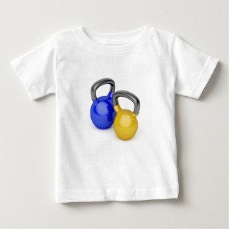 Camiseta De Bebé Dos kettlebells