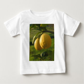 Camiseta De Bebé Dos limones maduros que cuelgan en árbol