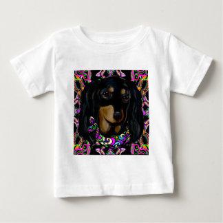 Camiseta De Bebé Doxie negro de pelo largo