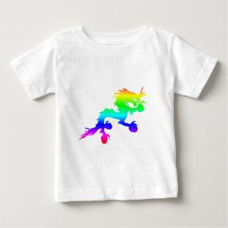 Camiseta De Bebé Dragón del arco iris