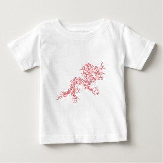Camiseta De Bebé Dragón rojo