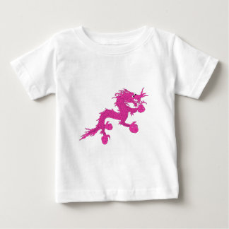 Camiseta De Bebé dragón rosado