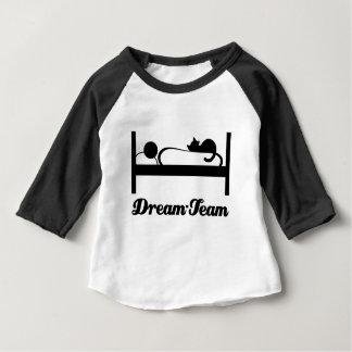 Camiseta De Bebé Dream equipo Sleeping with cat_.
