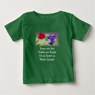 Camiseta De Bebé Dulce como arce Syruple