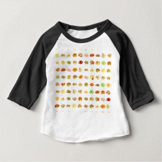 Camiseta De Bebé Dulces y fondo inconsútiles del modelo del