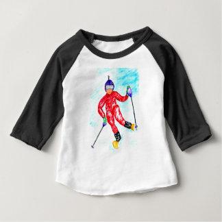Camiseta De Bebé Ejemplo del deporte del esquiador