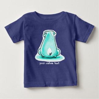 Camiseta De Bebé ejemplo imprudente del estilo del dibujo animado