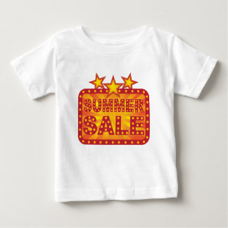Camiseta De Bebé Ejemplo retro de la muestra de la venta del verano