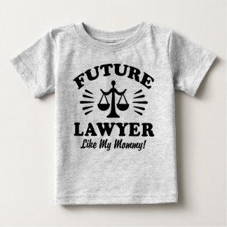 Camiseta De Bebé El abogado futuro tiene gusto de mi mamá