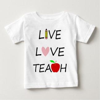 Camiseta De Bebé el amor vivo enseña