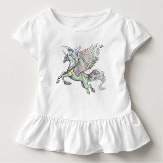 Camiseta De Bebé El ángel se nubla unicornio mágico del amarillo