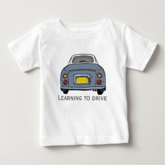 Camiseta De Bebé El aprendizaje conducir al bebé de encargo multa