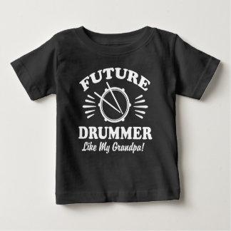 Camiseta De Bebé El batería futuro tiene gusto de mi abuelo