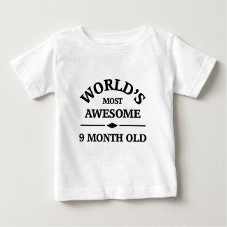 Camiseta De Bebé El bebé de 9 meses más impresionante del mundo
