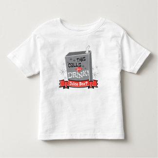 Camiseta De Bebé ¡El bebé de Boss el | que esto pide una bebida!