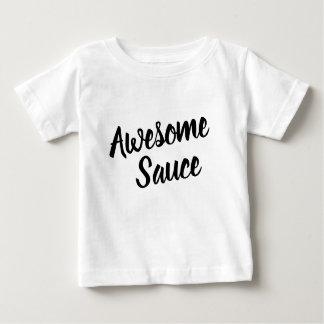 Camiseta De Bebé El bebé impresionante de la tipografía de la salsa