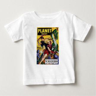 Camiseta De Bebé El Blonde heroico monta un dinosaurio