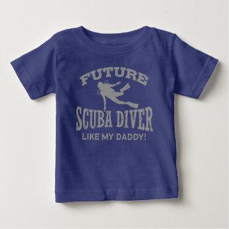 Camiseta De Bebé El buceador futuro tiene gusto de mi papá