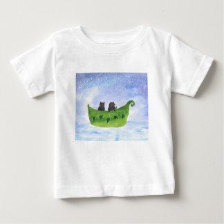 Camiseta De Bebé El búho y el minino