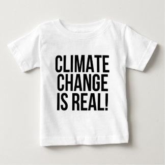 Camiseta De Bebé ¡El cambio de clima es real! Mundo de la tierra